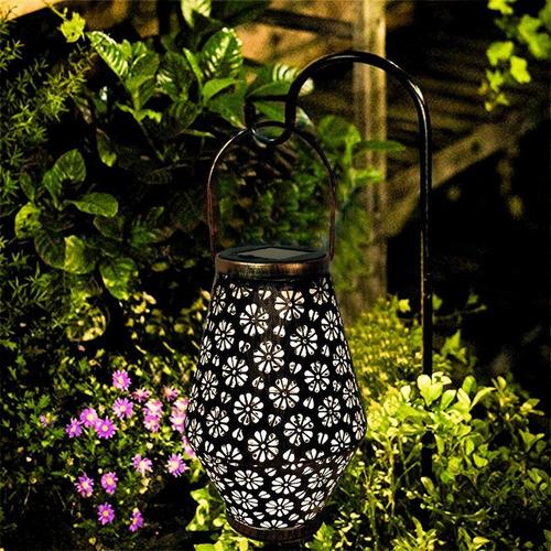 Lámpara Solar Led Al Aire Libre Patio Linterna Parque Decora