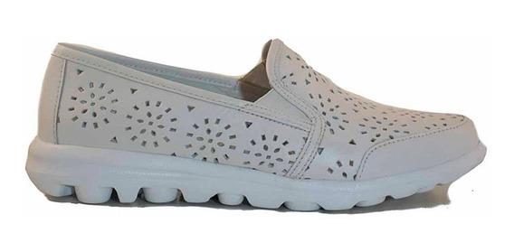 Mocasin Cuero Mujer Cavatini Zapato Base Goma - Mcmo03656