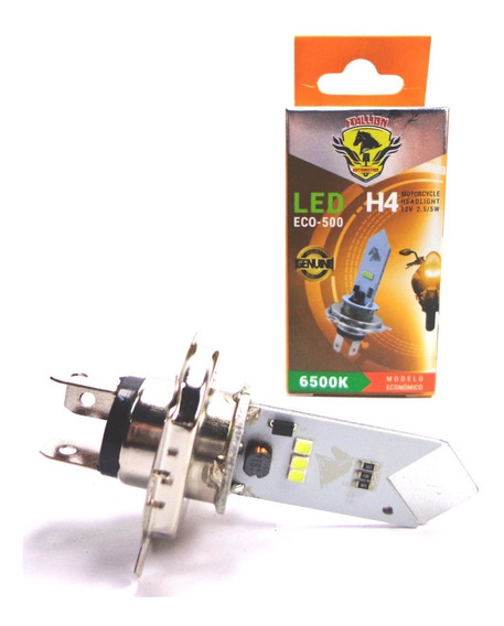 1 Lampada Moto H4 Super Led Efeito Xenon 8000k Cg Ybr Cb