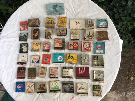 Antiguo Lote De Cajas De Fósforos De La Década Del 50/60.