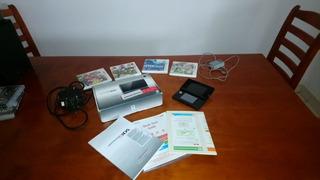 Nintendo 3ds + 5 Juegos + Cargador Y Transformador + Caja