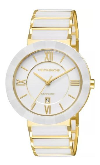 Relógio Technos Cerâmica Safira Grande 2015bv/4b Branco