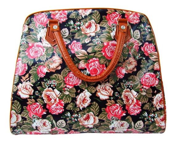 Bolso Cartera Grande De Flores Para Damas