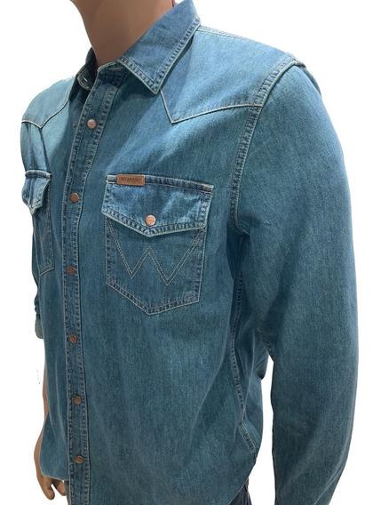 Camisa De Jean Wrangler Hombre Original Varios Colores