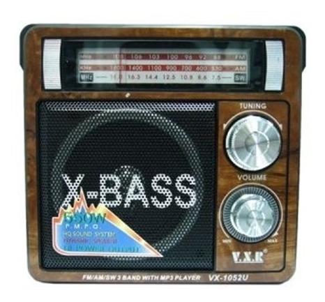 Caixa De Som Bluetooth Radio Portatil Retro Usb E Sd Fm Am