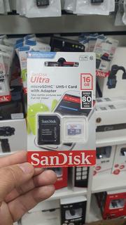 Cartão De Memória 16 Original Sandisk Modelo Ultra Classe10