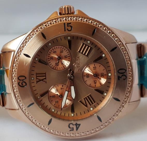 Relógio Invicta Rosé Feminino Original Promoção 12x Sj Melhor Preço