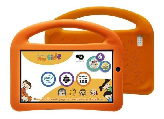 Tablet Dl Play Kids Tx330 Tela 7 Branco | Vitrine