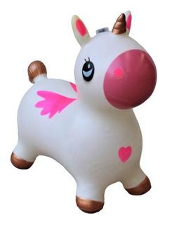 Montable De Caballito Unicornio Inflable Brinca Sonido
