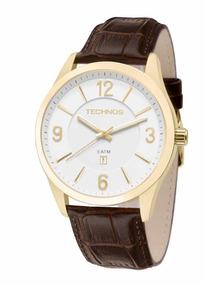 Relógio Masculino Technos Steel 2015bze/2b Couro Promocao