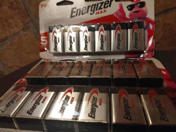 Batería Energizer Max 9v (6unidades)