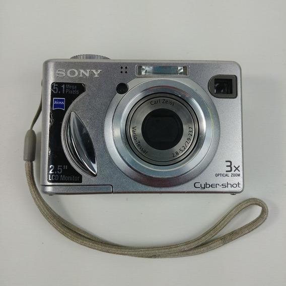 Câmera Digital Sony Cybershot Dsc-w5 5.1mp 3xzoom