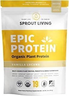 Sprout Living Epic Protein Powder, Vanilla Lucuma Flavor, Or