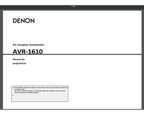 Manual Em Português Denon Avr-1610
