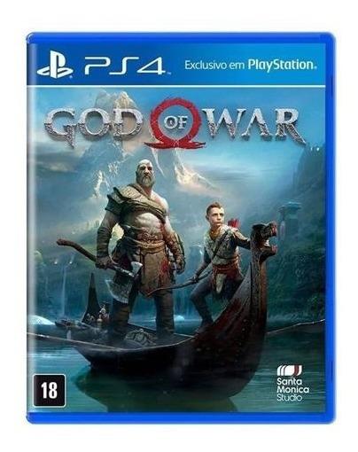 God Of War 4 Ps4 Mídia Física Lacrado Dublado Cx Plástica