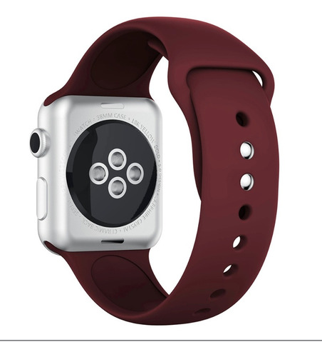 Pulseira Silicone Para Apple Watch 38/40mm - Wine Red