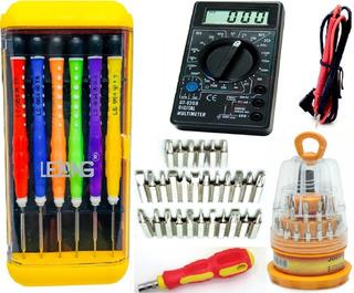 Kit Ferramentas P/ Eletrônica Celular Multímetro 31 Peças!