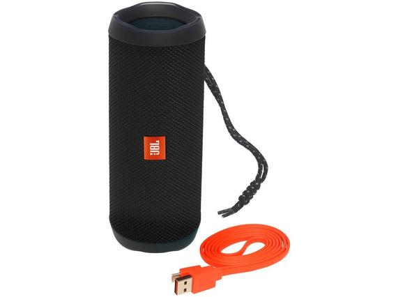 Caixa De Som Bluetooth Portátil Flip 4 Blk Preta Jbl