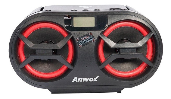 Rádio Amvox Amc-590 Usb Fm Display Digital 348