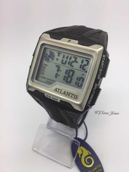 Relógio Digital Atlantis A7472 Original Prova D