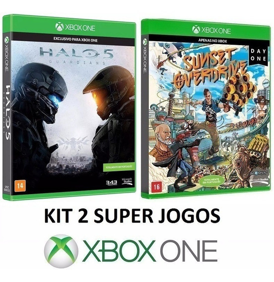 Halo 5 Guardians + Sunset Overdrive - Midia Fisica Xbox One
