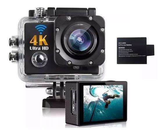 Kit 1 Câmera Filmadora 4k Full Hd Wifi + 1 Bateria Extra