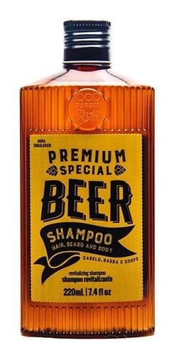Imagem 1 de 1 de Shampoo Special Beer | Para Cabelo, Barba E Corpo | Qbs