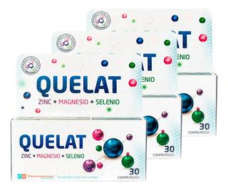 Quelat Complex Pack 3 Un X 30 Comp Zinc Magnesio Selenio