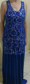 Vestido Longo Plus Size - 46 A 50