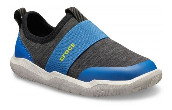 Crocs Kids Swiftwater Easy Gris Oscuro/azul