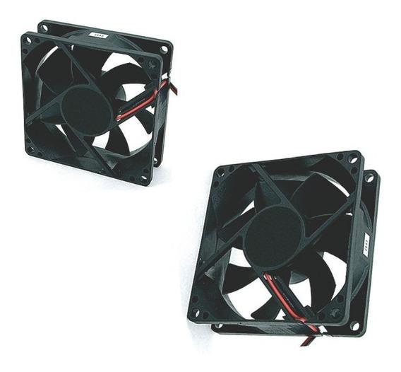Micro Ventilador Cooler Ventoinha 80x80x25mm C/bucha 12v
