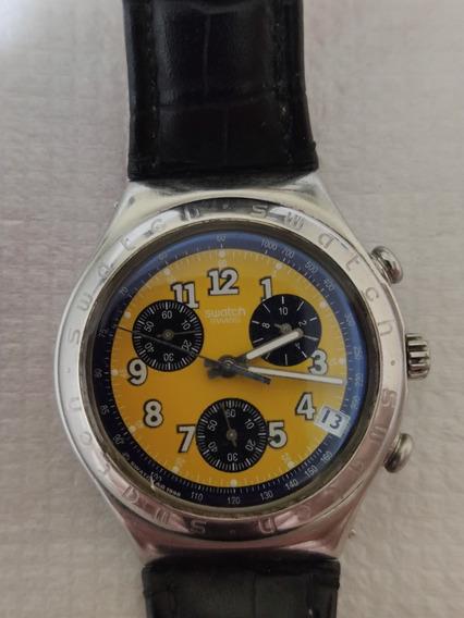 Relógio Suiço Swatch 100% Original Irony Amarelo
