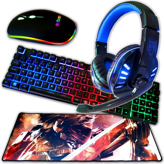 Teclado Gamer Mouse Gamer Head Set Gamer Mouse Pad 80x30 Cm