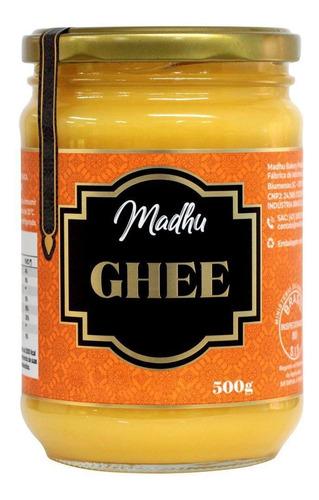 Imagem 1 de 1 de Manteiga Ghee 500g Clarificada Madhu Bakery - Original