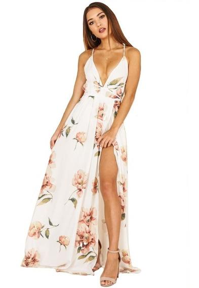 Vestido Largo De Fiesta Elegante Espalda Vestido Fresco