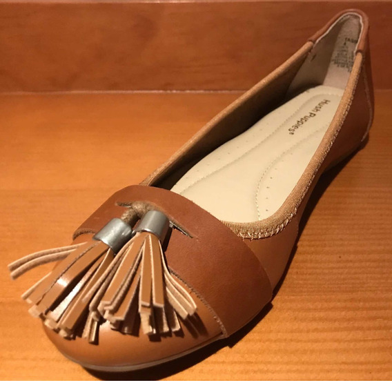 Flats Hush Puppies Tan Leather