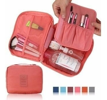 Neceser Bolso Porta Cosmeticos Maquillaje Organizador Liso