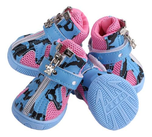 Imagen 1 de 6 de 4pcs Anti Skid Botas Zapatos Para Perros Mascotas