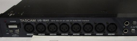 Placa Interface Tascam Us1641 Usb 16x4 Canais Até Windows 10