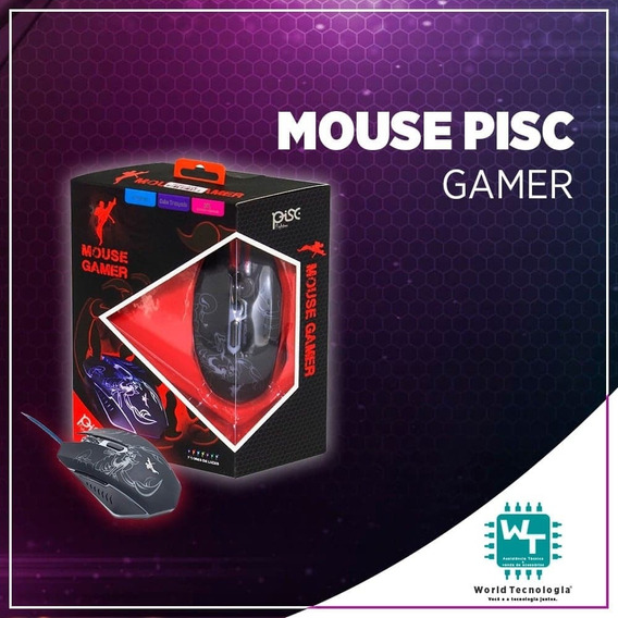 Mouse Gamer Fighter Com 7 Cores 2400 Dpi