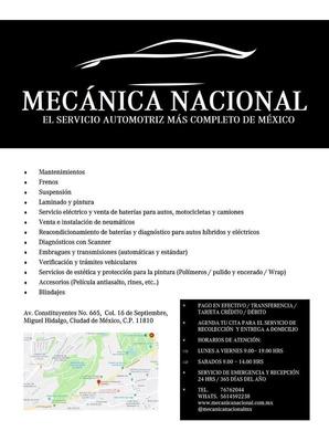 Mecánica Nacional Servicio Automotriz Multimarca