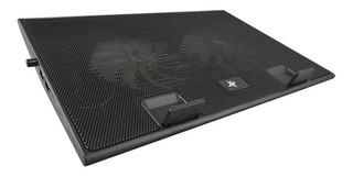 Base Refrigerante Star Tec St-cp-12 2 Ventiladores Negro