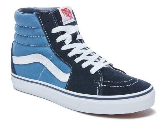 Zapatillas Vans Mod Sk8 Bota!!! Azul Blanco! 100% Original!