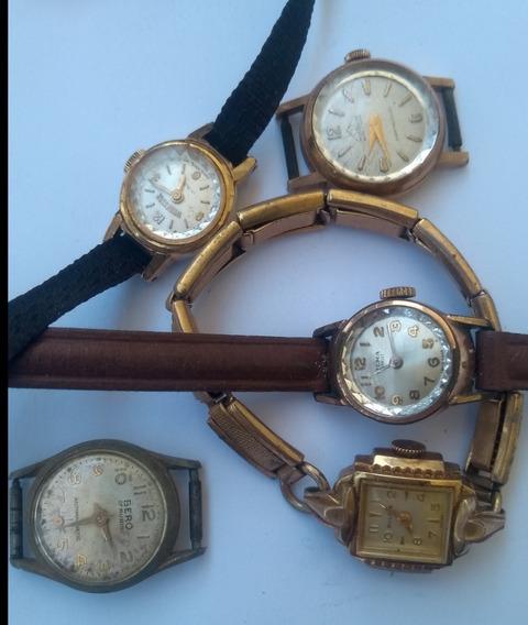 Lote Relógio Feminino Plaque 18 K