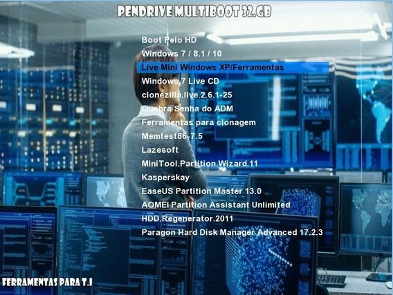 Kit Multiboot 32 Gb Ler Descrição