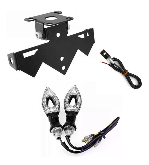 Eliminador De Rabeta Moto Z1000 Com Iluminação E Par De Seta