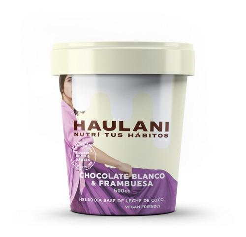 Helado Haulani Chocolate Blanco & Frambuesa X 500cc