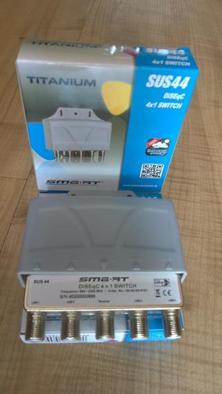 Diseqc Smart Titanium 4x1 Sus44 Importada Alemã+diseqc 4x1ds