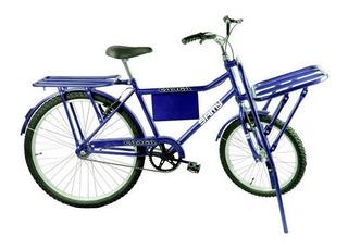 Bicicleta Cargueira Carga Food Bike Azul Pronta Entrega