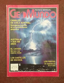 Revista Geo - Mundo Numero 5 Fechada Mayo Año 1988